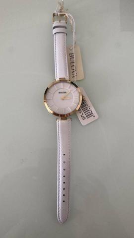 9e0a077353a Relógio Bulova Feminino Branco - 97l140 100% Original - Bijouterias ...