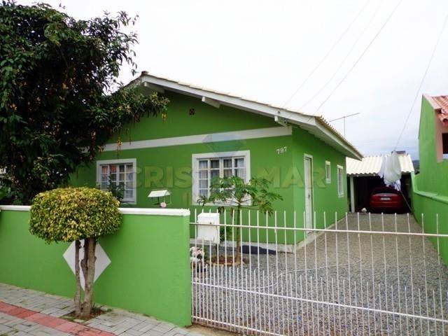 Casa econômico com 03 dormitórios, á 900m da Praia de Bombas. Cód.025 - Foto 3