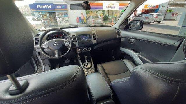 Mitsubishi Outlander 3.0 4X4 GT V6 2012 Prata Completíssima, Excelente Estado - Foto 10