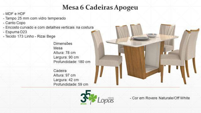 (6951) Mesa 6 Cadeiras Apogeu. Entrega rápida! Whatsapp: 97391=6951 - Foto 4