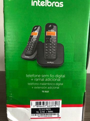 Telefone sem fio digital com ramal adicional  - Foto 2