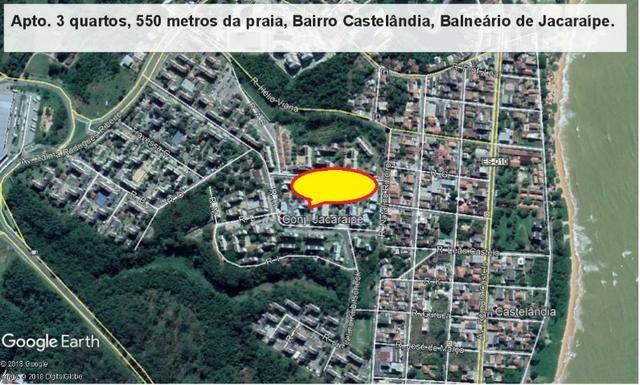 Apartamento 03 quartos, 3 º andar, sol da manha, 1.000 metros da praia, Castelândia - Foto 19
