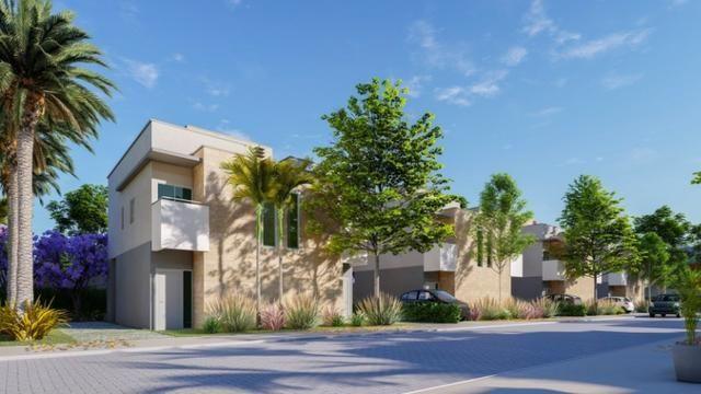 Aquamarine Gold Casas Duplex em Caucaia,2 Suites,2 Vagas,Piscina,Deck Capuan Cond Fechado