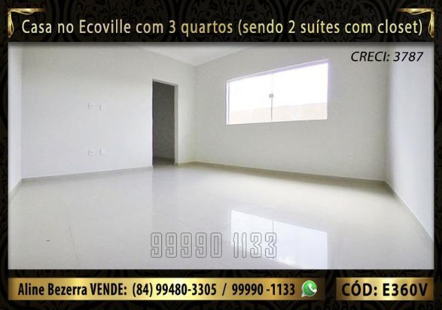 Casa no Ecoville com 3 quartos sendo 2 suítes com closet, e área gourmet - Foto 11