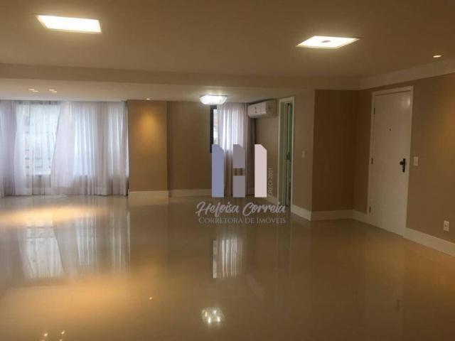 Apartamento com 4 dormitórios para alugar, 208 m² por r$ 4.500,00 - petrópolis - natal/rn