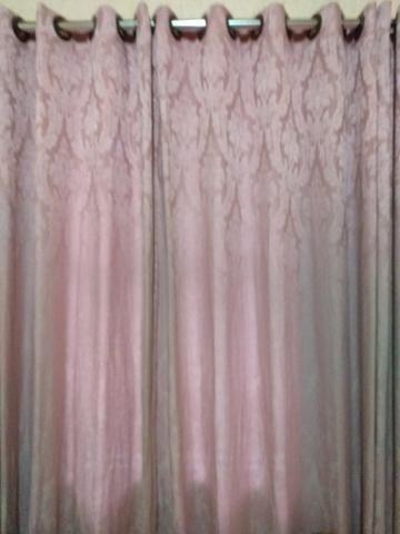 Cortina com forro. 3 metros largura por 3.10 altura. cor rosa - Foto 2