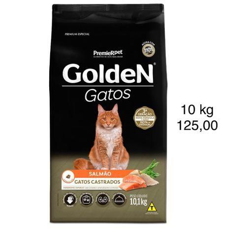 Ração Golden Gatos CASTRADOS SALMÃO 10 kg