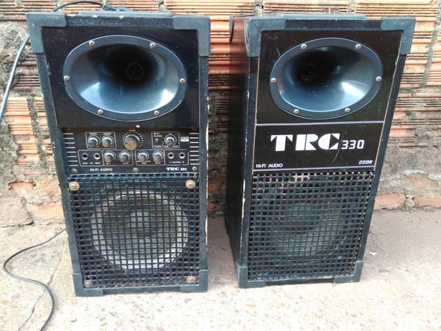Vendo caixas de som ativa e passiva TRC 200w