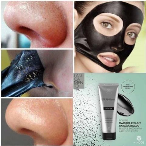 Máscara de Carvão Ativado Elimina cravos instantâneos e remove as sujeiras da pele - Foto 2
