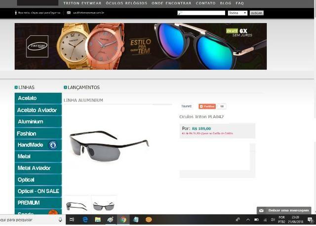 Óculos triton eyewear - Bijouterias, relógios e acessórios ... 407c87010c