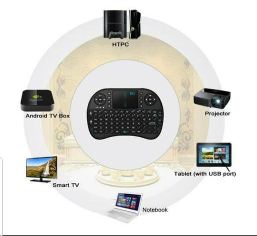 Teclado Sem Fio Para TV Smart Video Game,Pc e Notebook - Foto 4