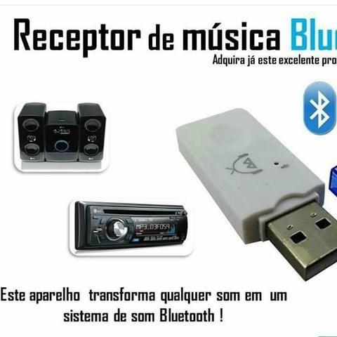 Usb Sem Fio Bluetooth Dongle Adaptador Receptor De Música - Foto 2
