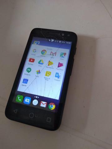 Smartphone 8g camera 8m frontal flash alcatel pix 4