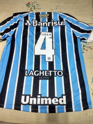 Camisa do Grêmio autógrafada - Foto 4
