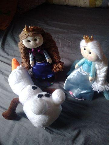 Bonecos de feltro para festa da Frozen