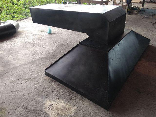 Coifa de ferro com duto  - Foto 2