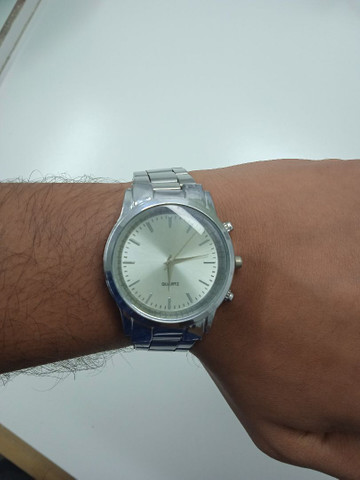 Relógio ponteiro prata Quartz (PROMOÇÃO) - Foto 3