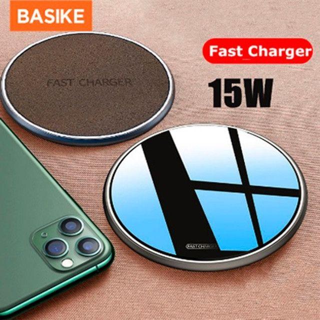 Carregador Sem Fio Para Celular 15w Android e iPhone - Foto 2