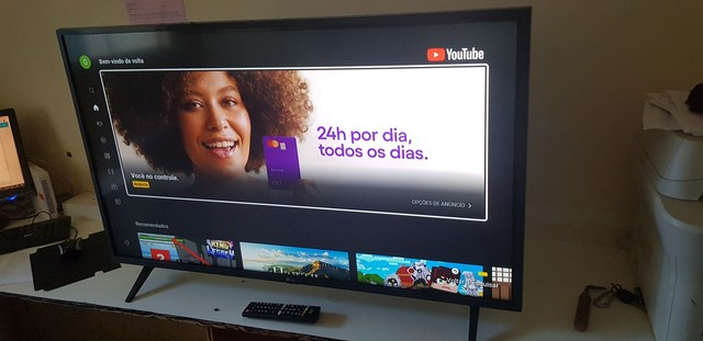 TV 43 smart wafi vai com Netflix  aberto  - Foto 3