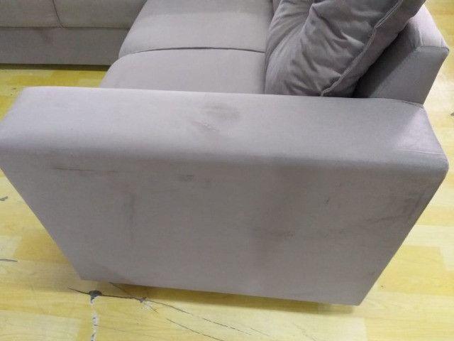 Sofa De Canto Animalle , Suede, 1,80x1,80m Frete Gratis** - Foto 4