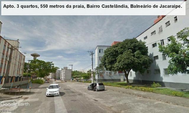 Apartamento 03 quartos, 3 º andar, sol da manha, 1.000 metros da praia, Castelândia - Foto 18