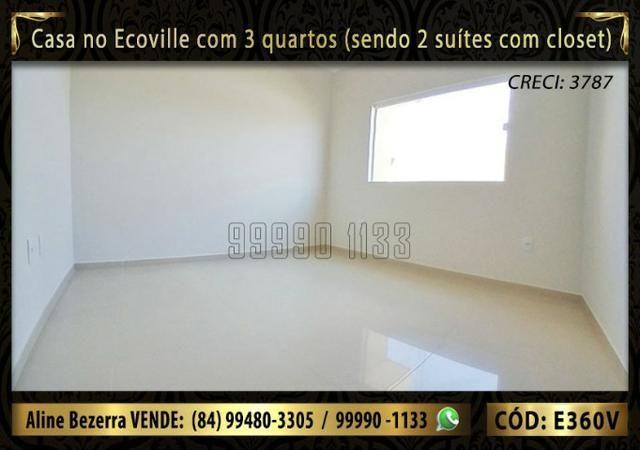 Casa no Ecoville com 3 quartos sendo 2 suítes com closet, e área gourmet - Foto 7