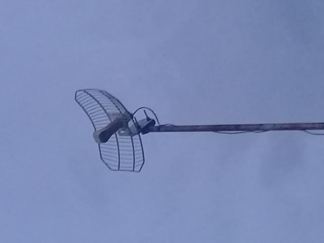 Antena e modem greatek para internet