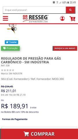 Regulador de pressão para Gás carbônico SM indústria (SM 37) - Foto 3