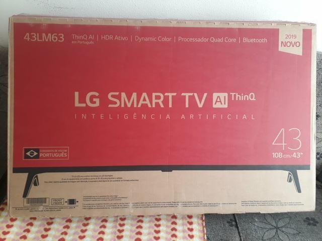 Smart TV LED 43? LG Full HD Wi-Fi - Inteligência Artificial 3 HDMI 2 USB dinheiro urgente.