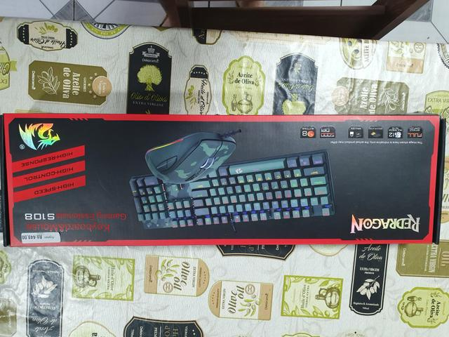 Kit teclado e mouse Redragon zerado