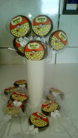 Pirulitos de chocolate R$ 0,90 com adesivo personalizado ENTREGA GRÁTIS - Foto 6