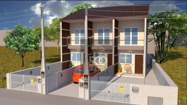 Sobrado com 2 dormitórios à venda, 64 m² por r$ 180.000,00 - potecas - são josé/sc