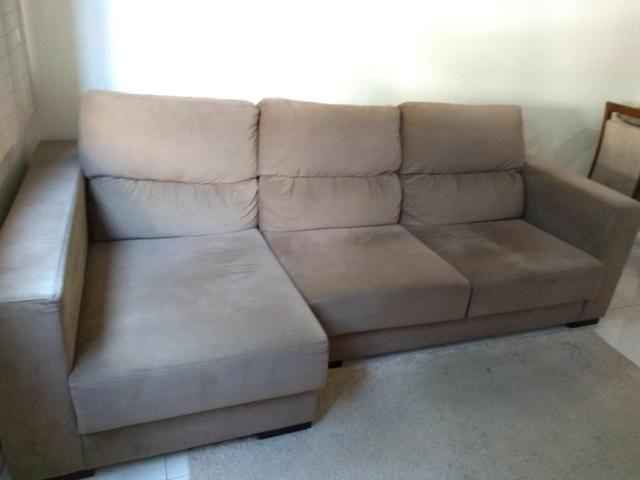 Admirable Sofa Retratil 3 Lugares Com Chaise Machost Co Dining Chair Design Ideas Machostcouk