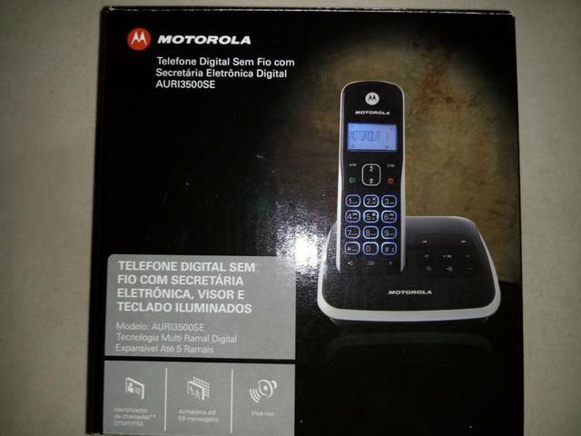 Telefone s/fio Motorola - secr. eletrônica, viva voz - Foto 4