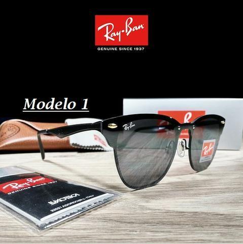 Óculos Unissex Rayban RB3576 Blaze Clubmaster Quadrado com Proteção ... 1faae65aeb