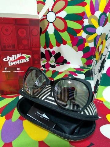 Oculos de sol preto original chili benas novo - nunca usado ... 13df074f34