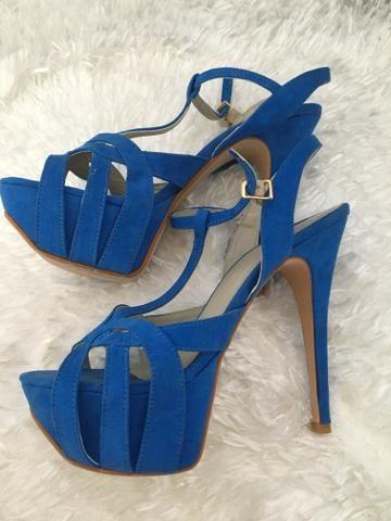 22a4b56dd Sandália salto alto azul - Roupas e calçados - Parque Res Cambuí ...