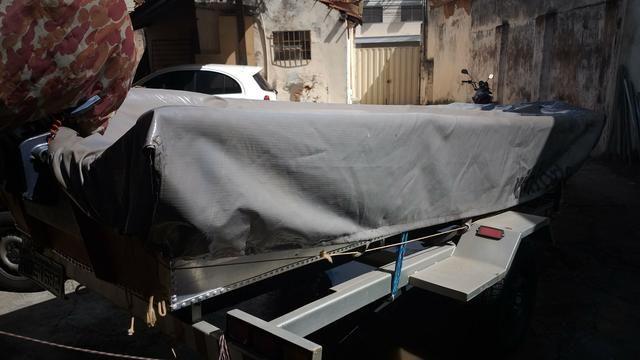 Canoa motor carreta capa - Foto 5