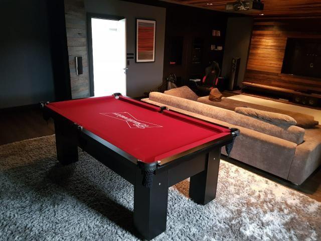 Mesa de Redinhas Tecido Vermelho Cor Preta Personalizada Bud Modelo BuD1909