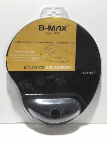 Mousepad Gel Bmax Apoio de Pulso em Gel Confortável Ergonômico - Loja Natan Abreu - Foto 4