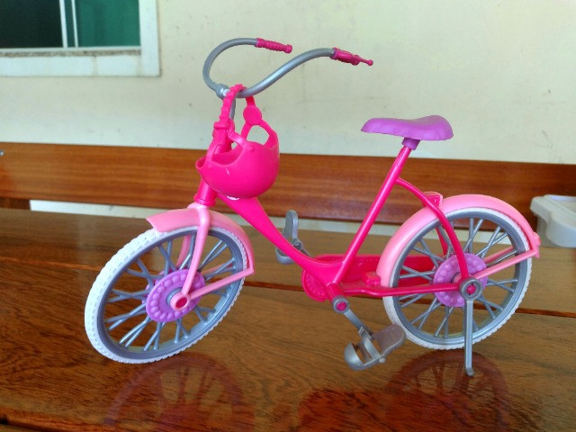 Bicicleta Barbie + Moto Monster Hugh - Mattel - Foto 2