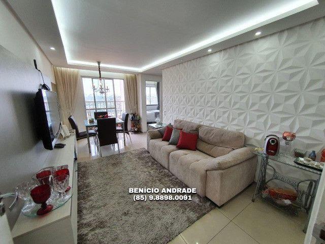Apartamento bem localizado, todo projetado, nascente e com lazer completo! - Foto 3
