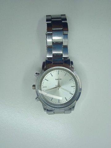 Relógio ponteiro prata Quartz (PROMOÇÃO) - Foto 4