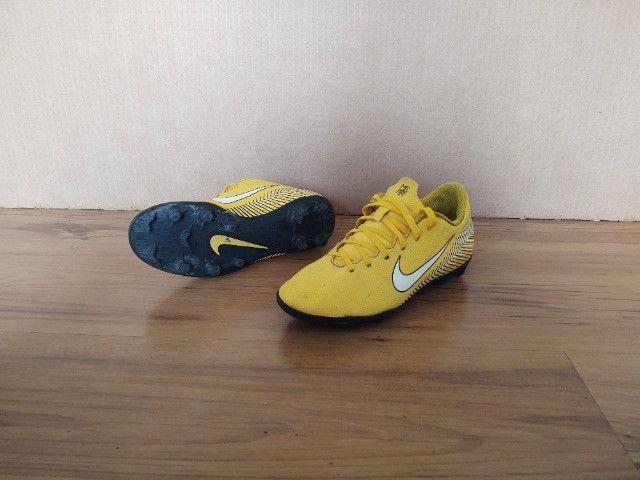 Chuteira Campo Infantil Nike Mercurial Vapor 12 Club GS Neymar FG - Foto 3