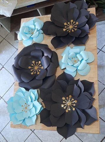 Flores Decorativas de Papel - Foto 4