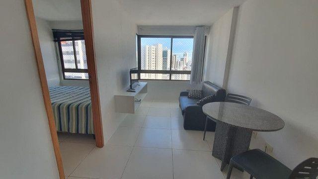 009L - Apartamento tipo flat para alugar, 1 quarto, Mobiliado, lazer, em Boa Viagem - Foto 5