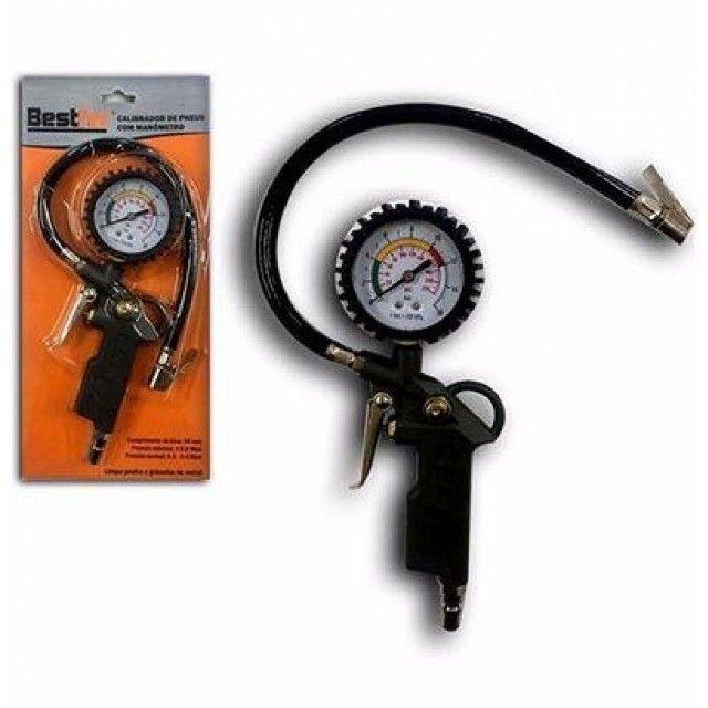 Kit Calibrador De Pneus Com Manômetro - Bestfer - Foto 3