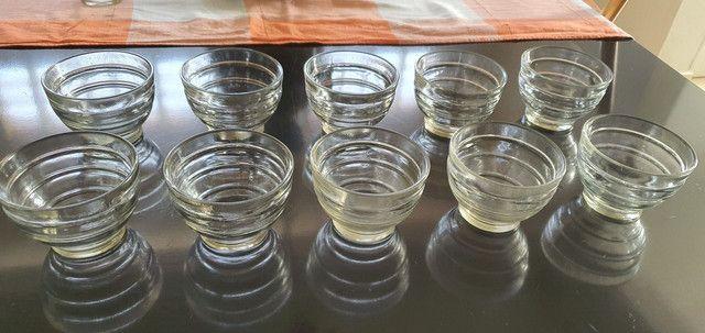 Taça Pote Antigo De Sobremesa Vidro Transparente 10 unidades - Foto 3