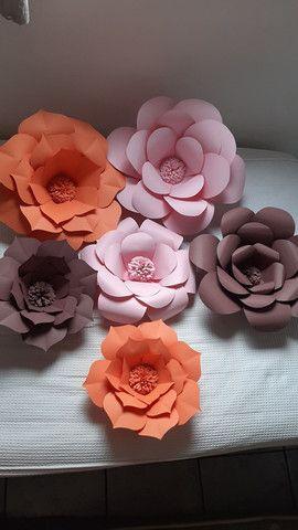 Flores Decorativas de Papel - Foto 6
