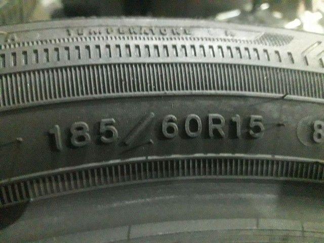 2  pneus goodiyear semi novo  top pra vender rápido  - Foto 2